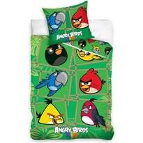 Detské bavlnené obliečky Angry Birds Green, 140 x 200 cm, 70 x 80 cm