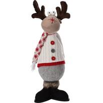 Świąteczny renifer w białym sweterku, 43 cm