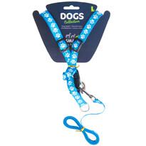Vodítko pre psa s popruhmi, modrá