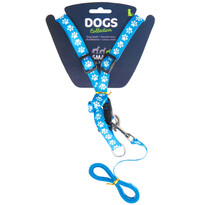 Vodítko pro psa s popruhy, modrá