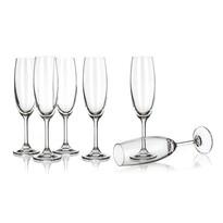 Banquet Crystal Sklenice na sekt Leona 210 ml, 6 ks