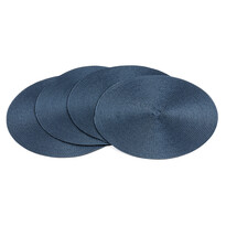 Prostírání Deco kulaté tmavě modrá, pr. 35 cm, sada 4 ks