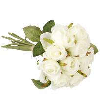 Umelá kytica ruží, biela