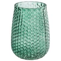 Elegantná sklenená váza, zelená