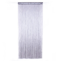 Provázková záclona Cortina do dveří šedá, 90 x 200 cm