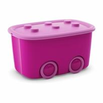 KIS Dekorační úložný box Funny L fialová, 46 l