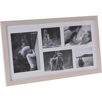 Fotorámček Memories na 5 fotografií, hnedá
