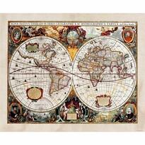 Fototapeta XXL Stara mapa 360 x 270 cm, 4 części