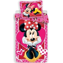 Detské bavlnené obliečky Minnie hearts 02, 140 x 200 cm, 70 x 90 cm