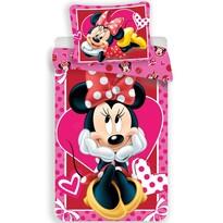 Dětské bavlněné povlečení Minnie hearts 02, 140 x 200 cm, 70 x 90 cm
