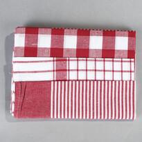 Set de prosoape de bucătărie mix roșu, 50 x 70 cm, 3 buc.