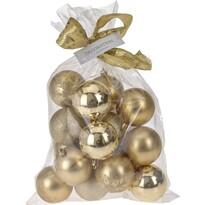 Vianočné gule Candy 16 ks, zlatá