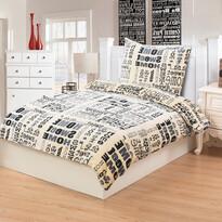 Obliečky mikroplyš Sweet Home, 140 x 200 cm, 70 x 90 cm