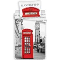 Povlečení London Telephone, 140 x 200 cm, 70 x 90 cm