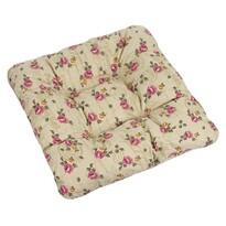 Pernă de scaun Adela trandafiri pe culoare mierii, 40 x 40 cm