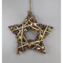 Stea de Crăciun Luccio, auriu, 34 cm