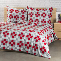 Lenjerie pat 1 pers. 4Home Checker, flanel