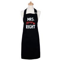 Şic în bucătărie, Şorţ de damă Mrs. Always right, 70 x 75 cm