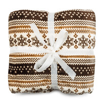 Beránková deka hnědá, 150 x 200 cm