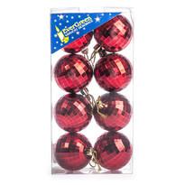 Vánoční koule 8 ks, červená