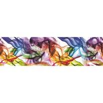 Samolepicí bordura Barevný kouř, 500 x 14 cm