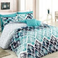 BedTex Bavlnené obliečky Riviéra tyrkysová, 140 x 200 cm, 70 x 90 cm