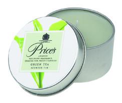 Price´s vonná sviečka v plechu Zelený čaj, 3 ks