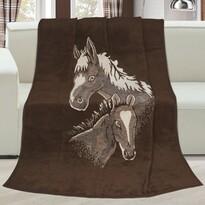 Koc Karmela plus Konie, 150 x 200 cm