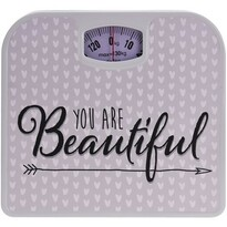 Osobná mechanická váha You are beautiful, béžová