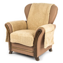 4Home Narzuta na fotel z kieszeniami beżowy, 65 x 150 cm, 2 szt. 40 x 80 cm