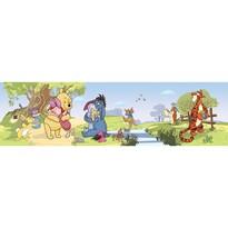 Bordură autoadezivă Ursuleţul Pooh şi prietenii, 500 x 14 cm