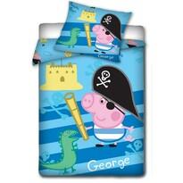 Dětské bavlněné povlečení Peppa Pig - George pirát, 140 x 200 cm, 70 x 80 cm