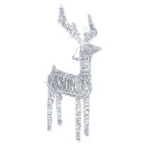 Vianočná drôtená dekorácia Reindeer strieborná, 80 LED