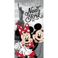 Ręcznik kąpielowy Mickey and Minnie in New York, 70 x 140 cm