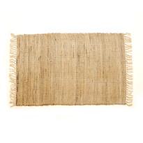 Ručne tkaný koberec Juta prírodná, 60 x 90 cm