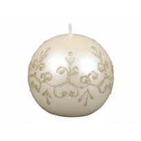 Vianočná sviečka Tiffany guľa, béžová