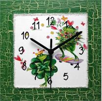 Nástenné hodiny žabky
