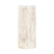 Polyresinová váza Stripe béžová, 35,5 cm