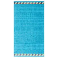Ręcznik kąpielowy Mozaik turkus, 70 x 130 cm