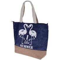 Geantă de plajă Flamingo, albastru închis
