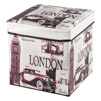 Skladací sedací box s potlačou London