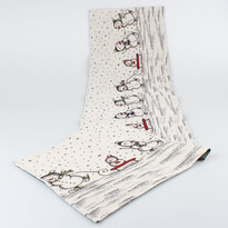 Běhoun Sněhuláci bílá, 33 x 140 cm