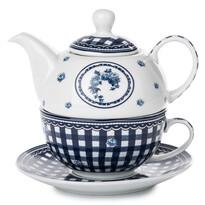3-dielna čajová sada Elegant, modrá