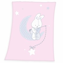 Dětská deka Fynn Star pink, 75 x 100 cm