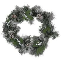 Capua karácsonyi koszorú, zöld, átmérő: 45 cm