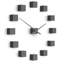 Ceas de design Future Time FT3000TT Cubic titanium, autoadeziv, diam. 50 cm