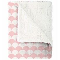 Pătură din imitaţie de lână Mistral Home Ginko, roz, 150 x 200 cm