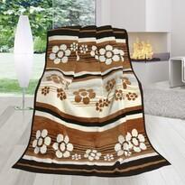 Koc Karmela Plus Łąka brązowa, 150 x 200 cm