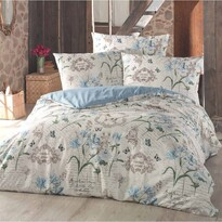 Valeria pamut ágyneműhuzat kék