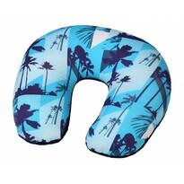 Cestovní polštář podkova Palmy, modrá